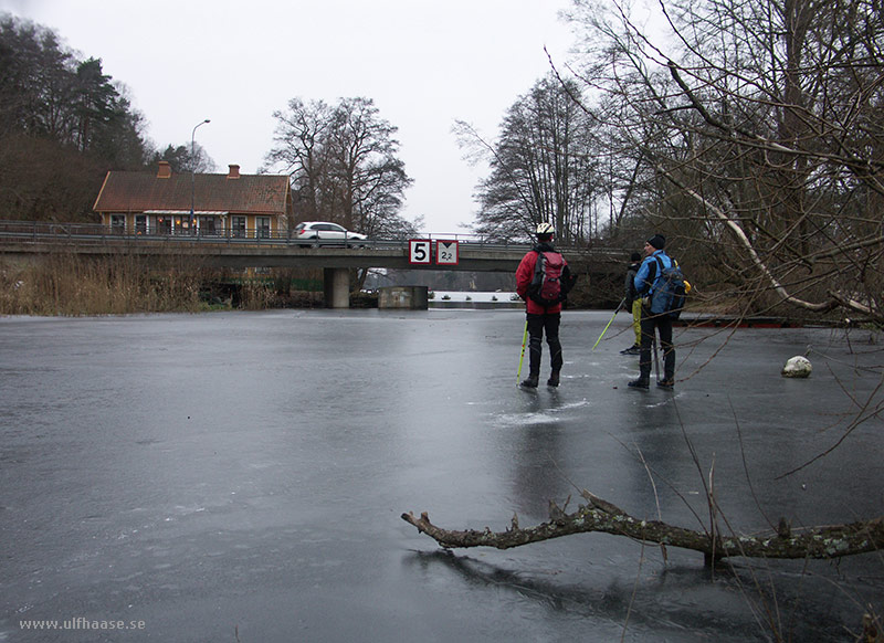 Ice skating in the Stockholm area, 2015.
