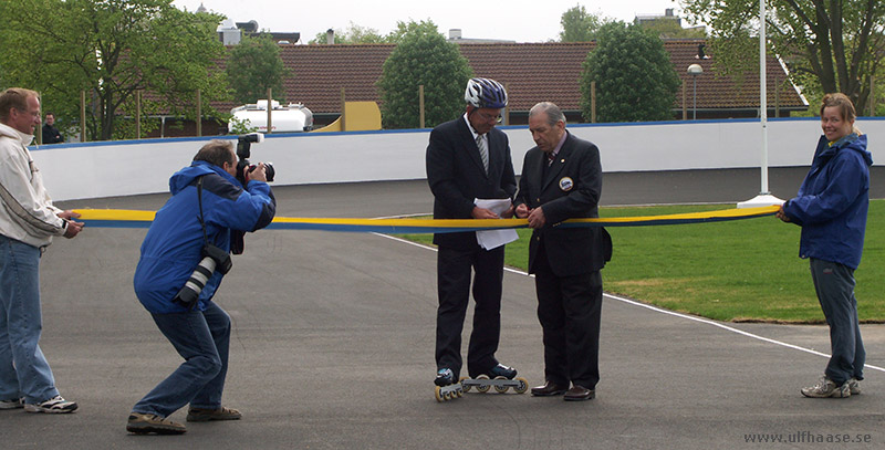 Inauguration of the inline skating track in Varberg, 21 May 2006.